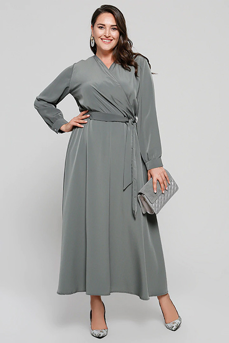 Alia Haki Anvelop Elbise