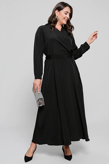 Alia Siyah Anvelop Elbise