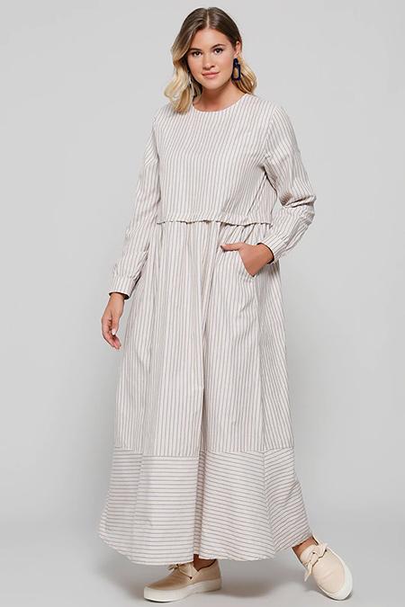 Alia Vizon Cep Detaylı Pamuklu Elbise