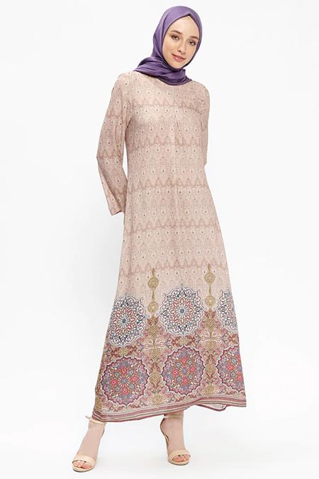 Almera Vizon A Pile Detaylı Elbise