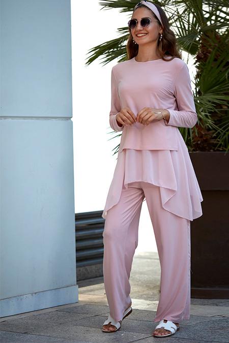 An-Nahar Pudra Aslı Bluz & Pantolon İkili Takım