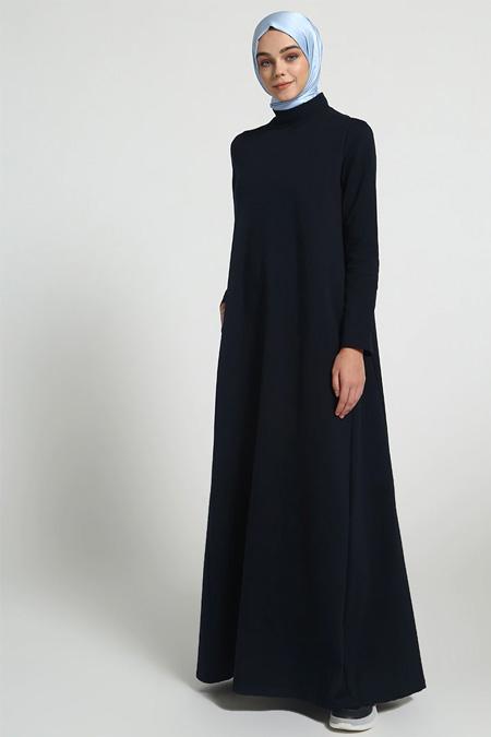 Everyday Basic Lacivert Cepli Spor Elbise
