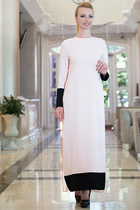 FMK by Tuay Karaca Pudra Pelerin Detaylı Elbise