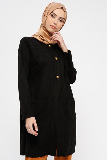 Ginezza Siyah Süet Ceket