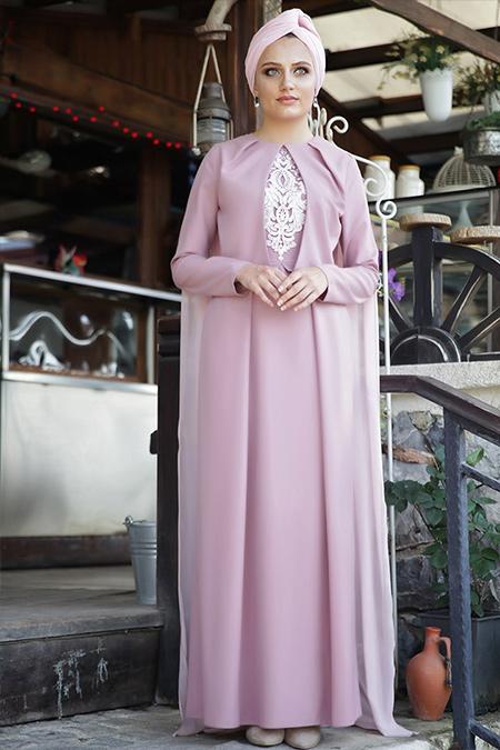 Hazem Pudra Damla Abiye Elbise