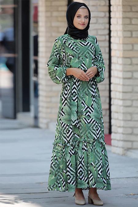 Hazem Yeşil Alaçatı Elbise