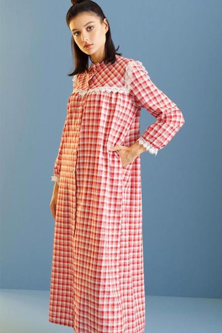 Lamelif By Elif Ekose Dantel Detay Elbise