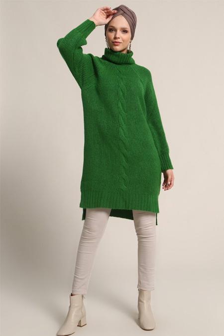 Refka Yeşil Triko Tunik