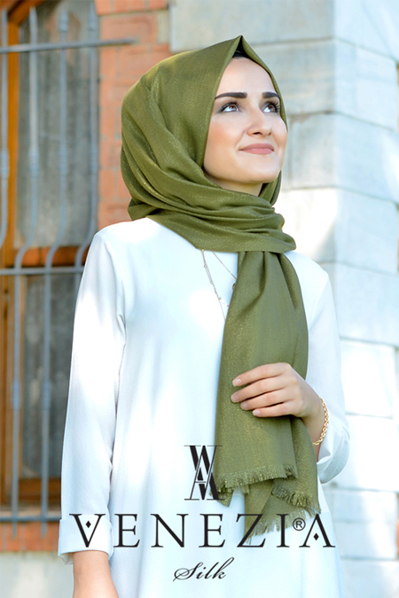 Venezia Wear Sura Simli Dokuma Cotton Şal