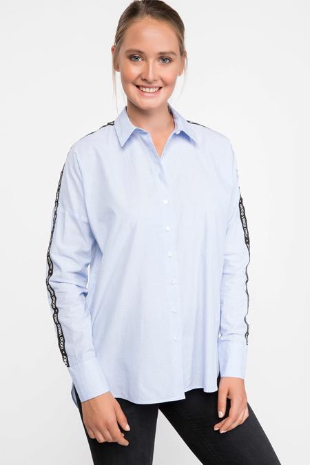 Defacto Kolları Şerit Detaylı Gömlek Tunik