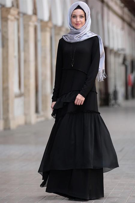 Emsale Siyah Elif Elbise