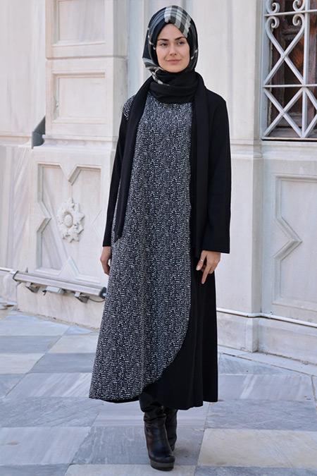 Henna Elısa Siyah Derya Ferace