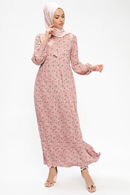 Loreen By Puane Gül Kurusu Çiçekli Elbise