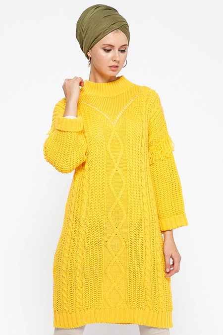 Loreen By Puane Sarı Triko Tunik