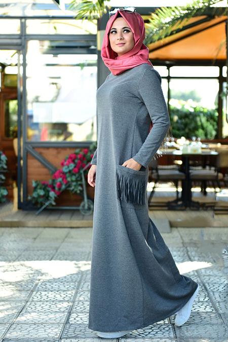 Nurgül Çakır Antrasit Basic Spor Elbise
