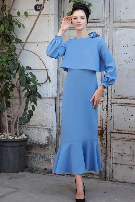 Selma Sarı Design Bebe Mavi Viole Elbise