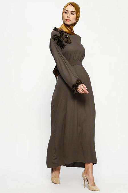 Tuncay Haki Kuşaklı Elbise