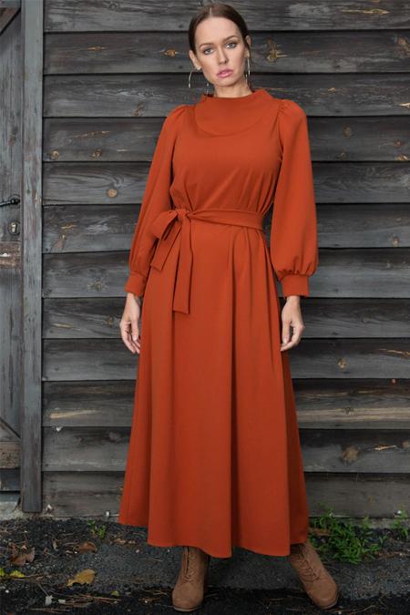 Ayşen Özen Tarçın Krep Elbise