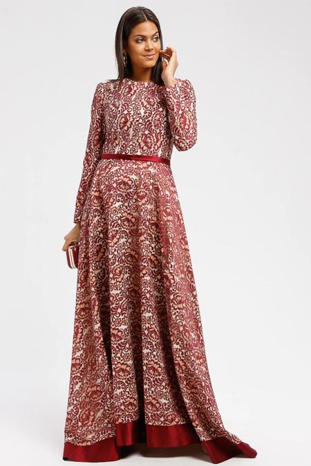 DRESSLOVE Kırmızı Dantel Abiye Elbise