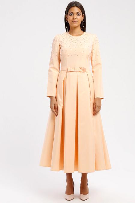 DRESSLOVE Somon İncili Elbise