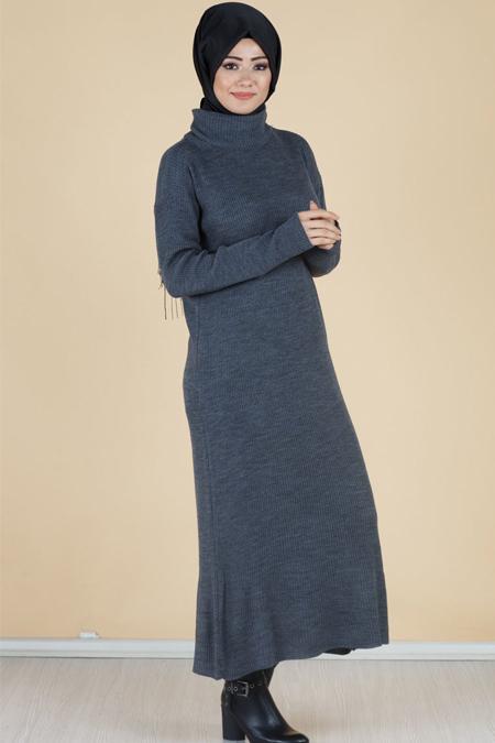 Degaje Yaka Tesettür Elbise