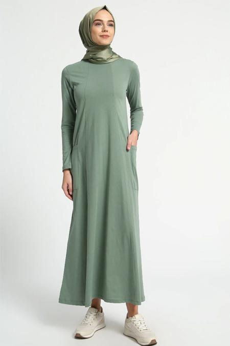 Everyday Basic Doğal Kumaşlı Cep Detaylı Elbise