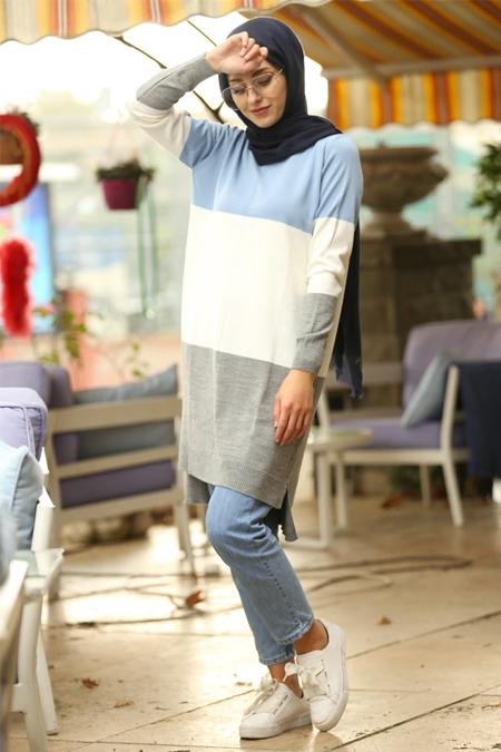 İnşirah Bebe Mavisi Triko Tunik