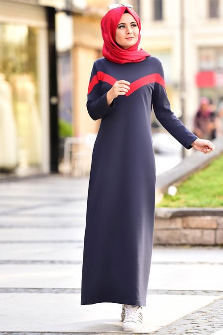 Nurgül Çakır Lacivert Elsa Spor Elbise