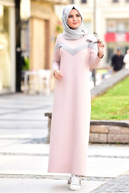 Nurgül Çakır Pudra Elsa Spor Elbise