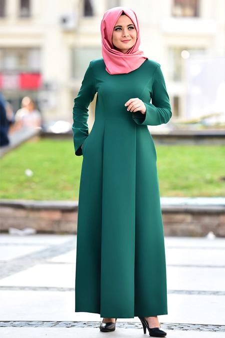 Nurgül Çakır Yeşil Fulya Elbise