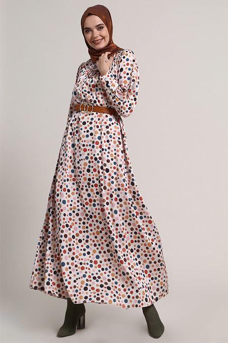 Refka Bej Puantiyeli Elbise