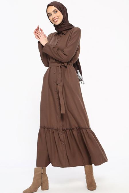 0634100ff2b6f Boydan Düğmeli Elbise, İndirimli Satın Al, Online Alışveriş, Sipariş ...