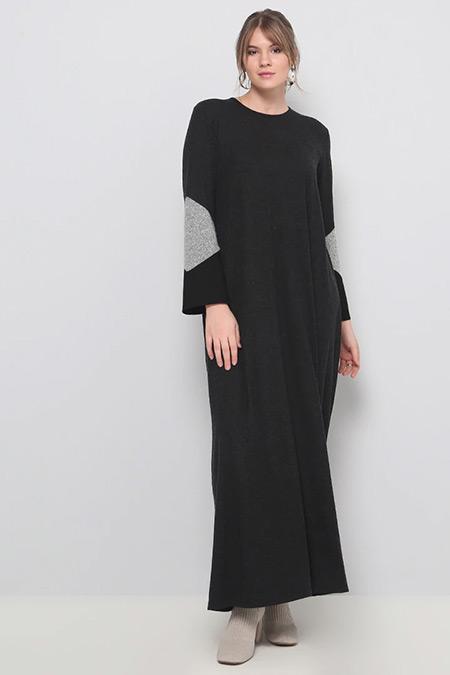 Alia Antrasit Garnili Elbise