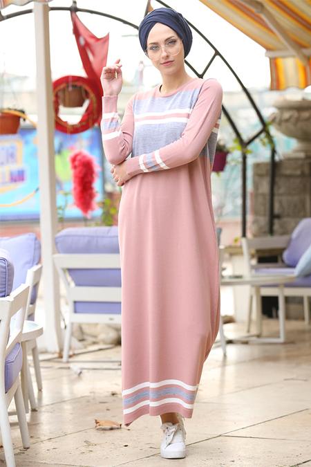 İnşirah Pudra Triko Elbise