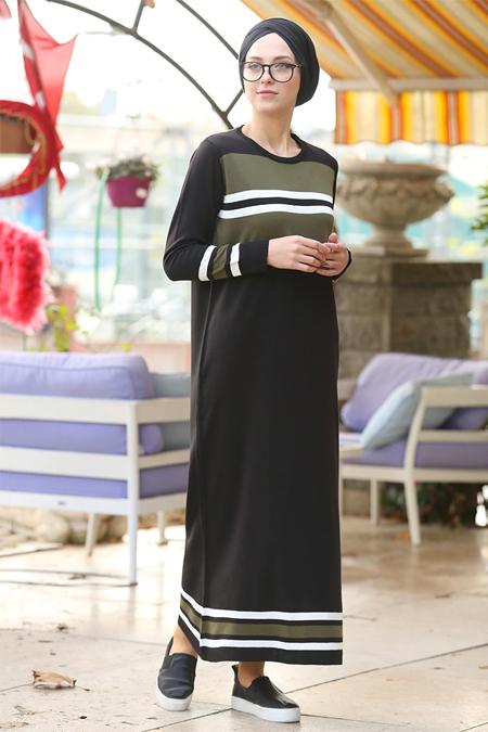 İnşirah Siyah Triko Elbise