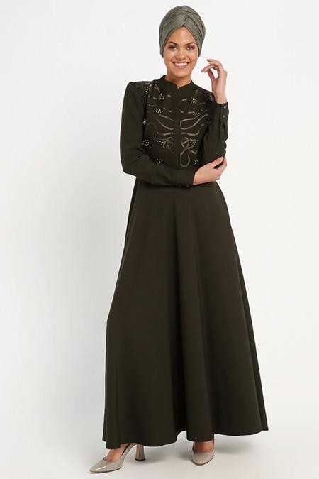 Loreen By Puane Haki İnci Detaylı Elbise