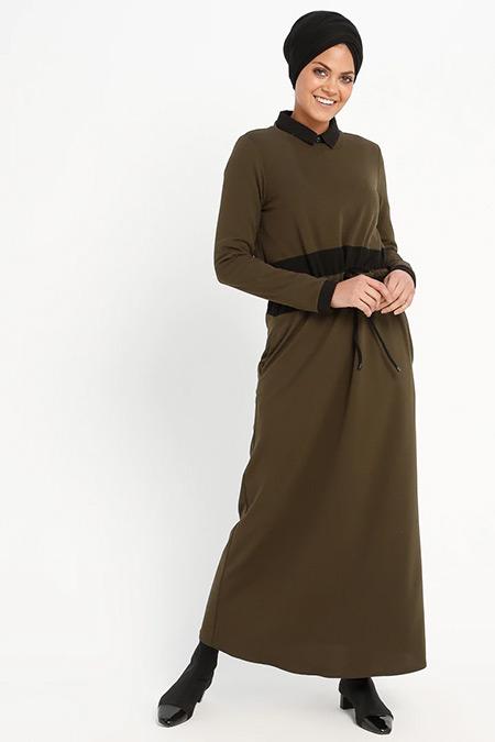 Loreen By Puane Haki Beli Bağcıklı Elbise