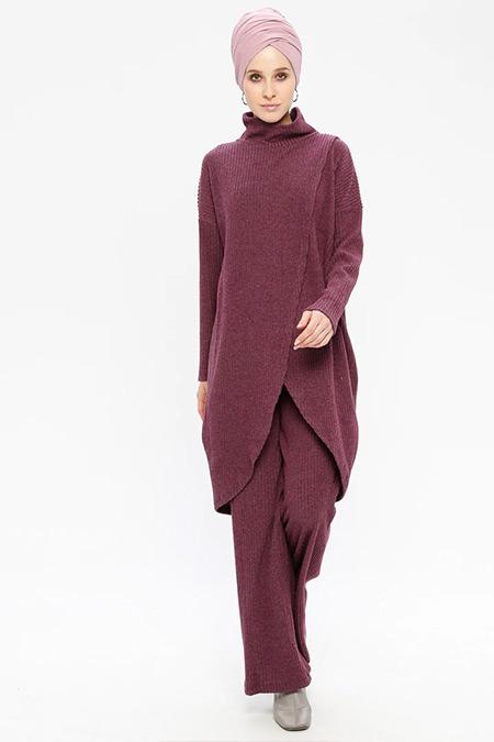 Loreen By Puane Mor Tunik&Pantolon İkili Takım