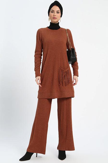 Loreen By Puane Taba Tunik&Pantolon İkili Takım