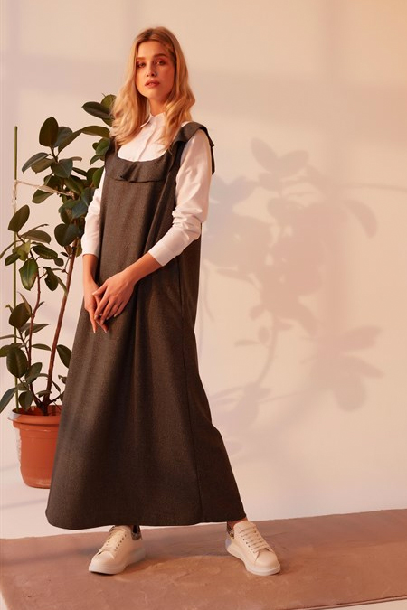 Merve Dağlı Gri Diana Elbise