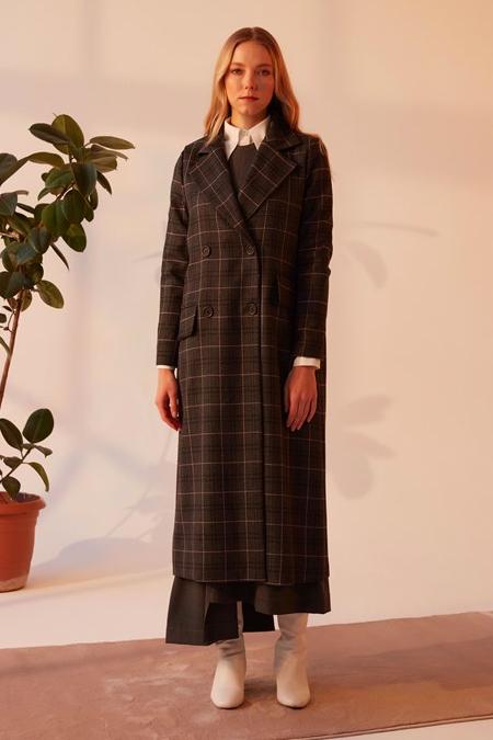 Merve Dağlı Gri Mabel Ceket