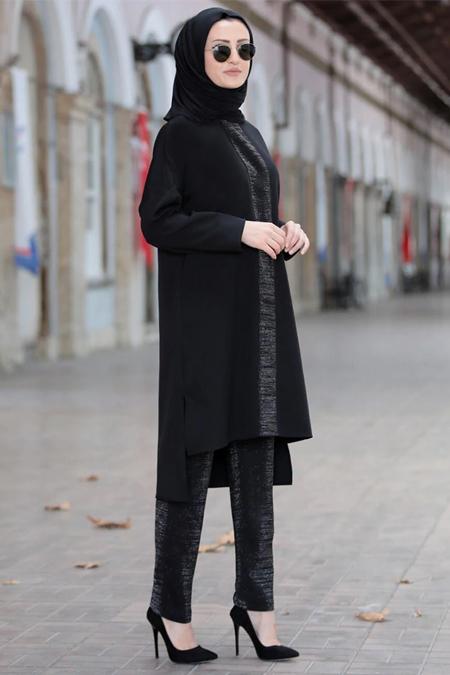 Piennar Siyah Hera Tunik & Pantolon İkili Takım