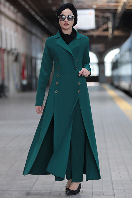 Piennar Yeşil Karaca Ceket&Pantolon İkili Takım