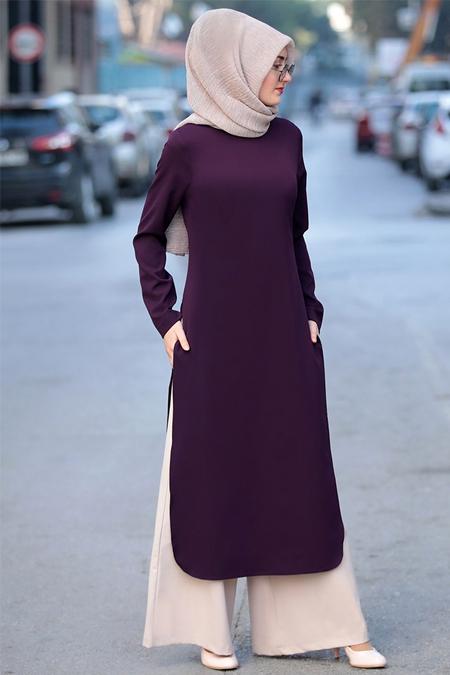 Sure Mor Ekru Hayat Tunik & Pantolon İkili Takım