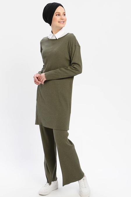 Çat Pat Tekstil Haki Tunik & Pantolon İkili Takım