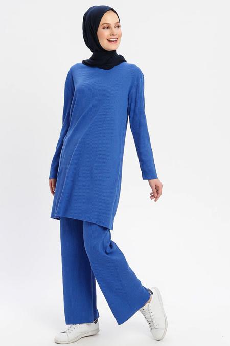 Çat Pat Tekstil Saks Tunik & Pantolon İkili Takım