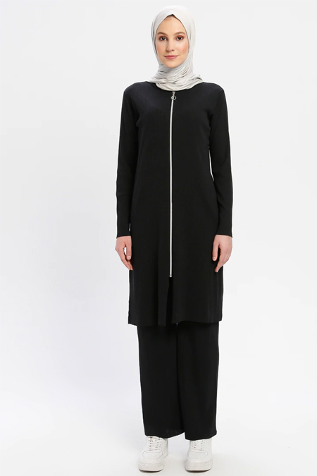 Çat Pat Tekstil Siyah Tunik & Pantolon İkili Takım