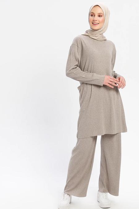 Çat Pat Tekstil Vizon Tunik & Pantolon İkili Takım
