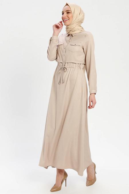 ELİT LİFE Taş Belden Bağlamalı Elbise