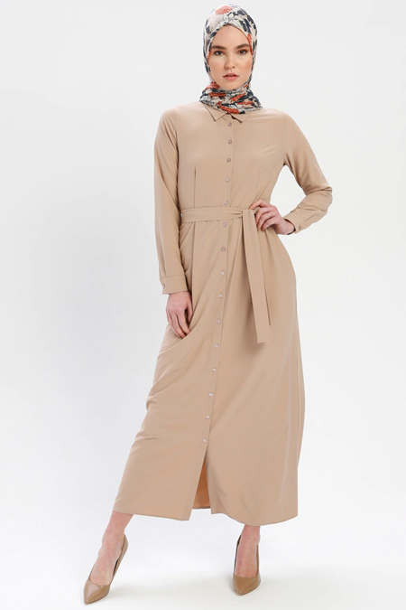 ELİT LİFE Taş Boydan Düğmeli Elbise